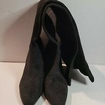Steve Madden Black Over the Knee Tall Faux-Suede Boots Womens Size 7.5 M   Sb12g Photo