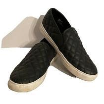 Steve Madden Black Quilted Boat Shoe Slip on Us Size 8.5m Photo