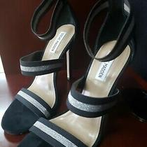 Steve Madden Black / Silver Stilletos Size 10 Cute Photo