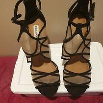 Steve Madden Black Stiletto With Mesh Size 10 Pre-Owned Photo