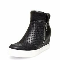 Steve Madden Black Wedge Sneaker Bootie Size 8 (M) New Without Box Photo