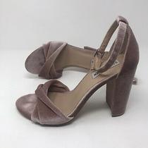 Steve Madden Blush Clever Velvet Block Heel Womens Size 9.5 Photo