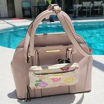 Steve Madden Blush Floral Breeze Faux Leather Satchel - Crossbody or Carry - Nwt Photo