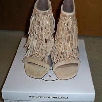 Steve Madden Blush Fringly-R Suede Leather Pumps Sandals Sz 9- Nib Photo