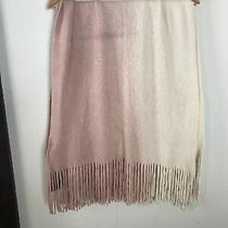 Steve Madden Blush Ombre Super Soft Knit Scarf Pink and Cream New W/tags Photo
