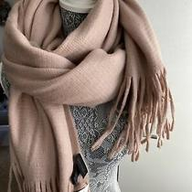 Steve Madden Blush Pink Super Soft Large Fringe Scarf Wrap Photo