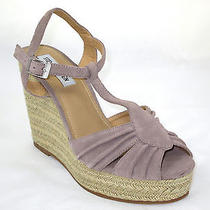 Steve Madden Blush Suede Mambo Wedge Sandals 10m Retail 89.00 Photo