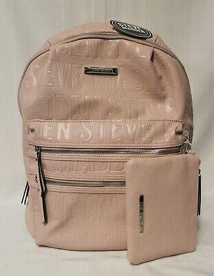 Steve Madden Bprep Logo Backpack with Clutch - Blush - NWT Photo