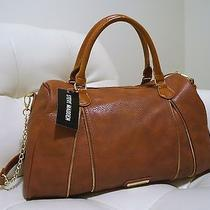 Steve Madden Brown Cognac Convertible Satchel Bag Photo