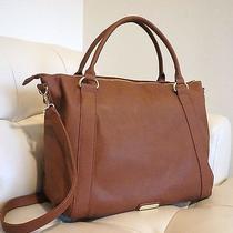 Steve Madden Brown Cognac Large Tote Bag Photo