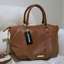 Steve Madden Brown Cognac Satchel Bag Photo