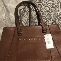 Steve Madden Brown Faux Leather Large Purse Bag Tote Photo