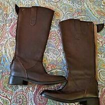 Steve Madden Brown Leather Riding Boots 7m Photo