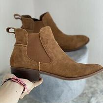 Steve Madden Brown Leather Womens Bootie Drape Chelsea Boots Size 8 Photo