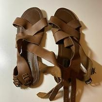 Steve Madden Brown Leather Wrap Gladiator Sandals 9.5 Photo