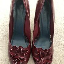 Steve Madden Burgundy Maroon Patent Leather Heel Pumps Sz 10 Excellent Condition Photo