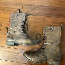 Steve Madden Cablee Combat Boots Brown 8.5 Photo