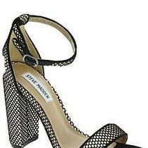Steve Madden Carrson Women's Ankle Strap High Block Heels Fishnet Size 8 Photo