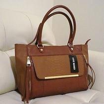 Steve Madden Cognac Brown Large Tote Bag Photo