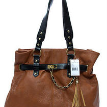 Steve Madden Cognac Tote Handbag Purse Photo