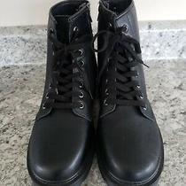 Steve Madden Cole Black Combat Boots Womens Size 9.5 Photo