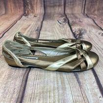 Steve Madden Collin Flats Women Size 8.5 Slip on Shoes Gold/bronze Photo