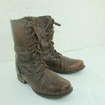 Steve Madden Combat Boots Sz 7.5 Browns Leather  Photo