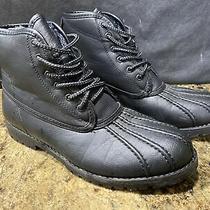 Steve Madden Cornel Duck Boots Black/black  Size 10 Gray Fleece Lining. Photo