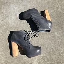 Steve Madden Craizie Blue Platform Booties - 7.5 - Jeffrey Campbell Lita Dupe Photo
