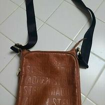 Steve Madden Crossbody Signature Purse Bag Brown Gold Hardware Photo