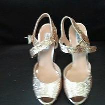 Steve Madden Deeny Womens Sz 10 Gold Platforms Sparkle Club Strippers Heels Shoe Photo