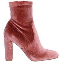 Steve Madden Edit Blush Velvet High Heel Booties Size 7 M Photo