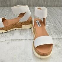 Steve Madden Elba Wedge Sandal Women's Size 7m White New Photo