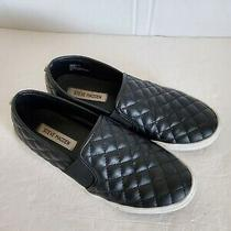 Steve Madden Endell Quilted Slip on Women's 9 Black Leather Shoes Sneakers Photo