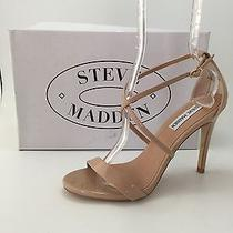 Steve Madden Feliz Blush Patent Leather Crisscross Straps Women Sandals sz.8 New Photo