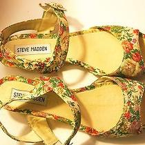 Steve Madden Floral Painted Sandals Photo