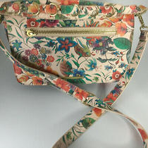 Steve Madden Floral Shoulder Hand Bag With Gold Trim  Fun   Photo