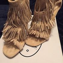 Steve Madden Fringlyr Blush Embellished Fringed Womens Shoes Sandal 7 1/2 M Photo