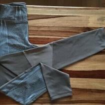 Steve Madden Full Length Leggings Mesh Quick Dry Size M Grey/blue Stripe Photo