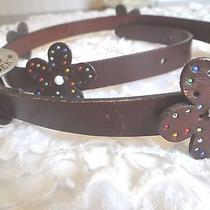 Steve Madden Genuine Leather Brown Belt Size Large Photo