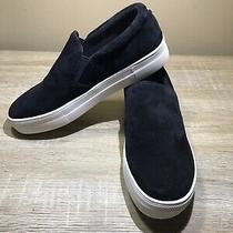 Steve Madden Gills Suede Slip on Sneakers Women's Size 8.5 Black New Photo