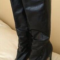 Steve Madden Girl Black Knee Boot Platform Heels Camille Shoes Size 7.5 Photo