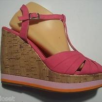 Steve Madden Girl Jumper Pink Ankle Strap Platform Sandals Shoes Size 9.5 Closet Photo