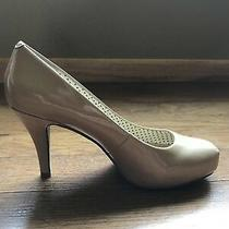 Steve Madden Girl Womens Ladies Getta Biege/nude Glossy Heels Pumps Size 7 Photo
