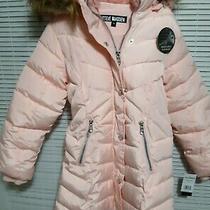 Steve Madden Girls 6x Hooded Puffer Jacket Coat - Girl's Size 6x Blush O2a1141h Photo