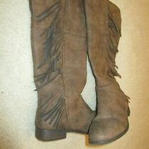 Steve Madden Girls Tall Fringe Boots Sixe 5 Photo
