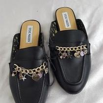 Steve Madden Girls Youth J Jillc Black Blingy Open Heel Mules Size 5 New Photo
