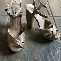 Steve Madden Gleam Heels Size 9 Gold Glitter Photo