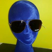 Steve Madden Gold Brown Aviator Sunglasses S5423 Nwt 40 New Shades 100% Uv  Photo