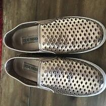 Steve Madden Gracy Rose Gold Slip on Sneakers Size 5 Photo
